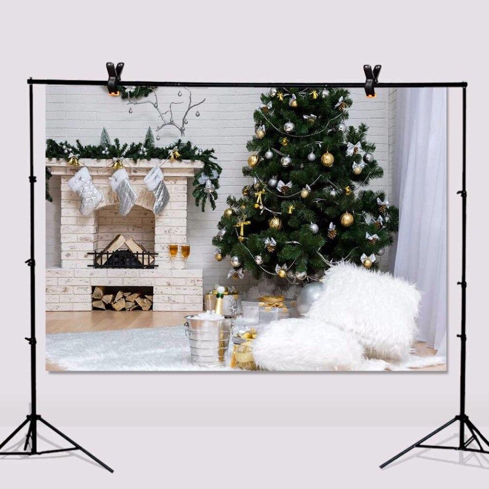 Christmas Tree Photography Background Carpet Vinyl Brick Walls Photo Backdrops for Baby 7x5ft or 5x3ft christmas046 shengyongbao 300cm 200cm vinyl custom photography backdrops prop christmas background digital ntwu 4041