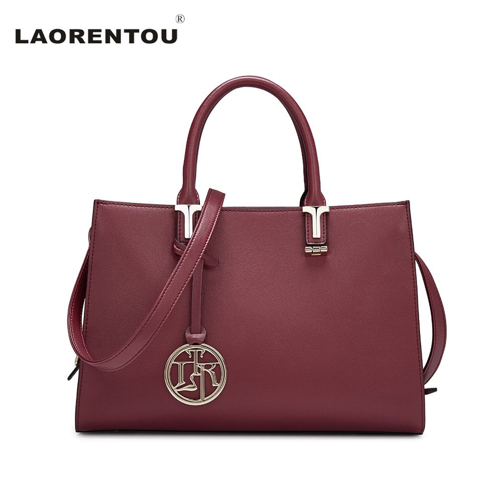 LAORENTOU Cowhide Leather Women Flap Top Handle Fashion Ladies Hand Bags Exclusive Brand Designer Crossbody Bag For Women N55 laorentou cowhide leather women handbag brand fashion larger capacity women leather bag luxury totes designer lady hand bags