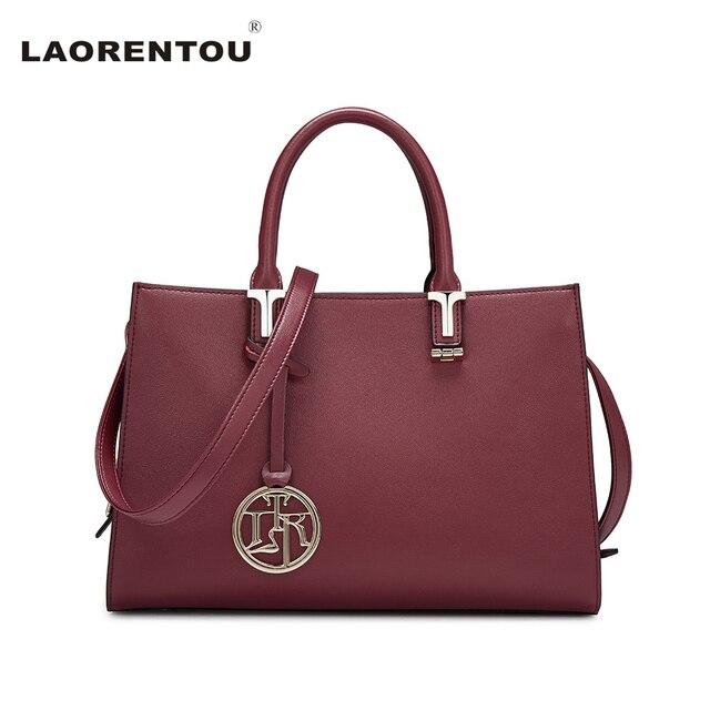 f35a0a037af LAORENTOU Cowhide Leather Women Flap Top Handle Fashion Ladies Hand Bags  Exclusive Brand Designer Crossbody Bag