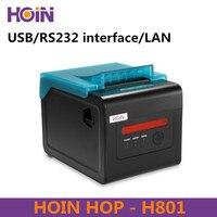 HOIN HOP H801 80 мм Портативный Термальность чековый принтер USB/RS232/Интернет соединения Поддержка Windows Linux Android и IOS