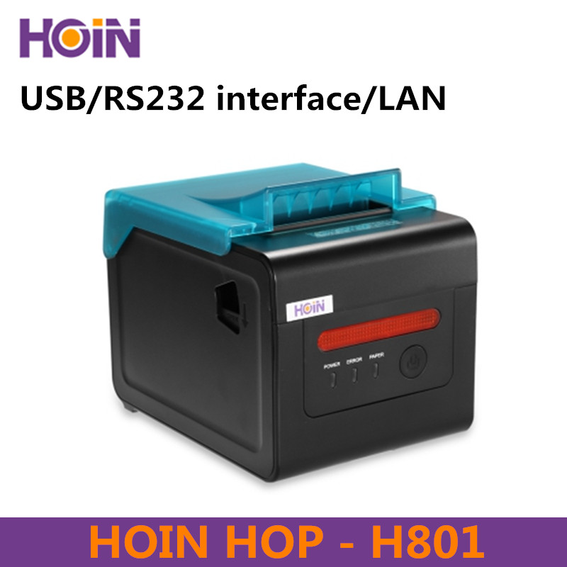 HOIN HOP-H801 80mm Portable Thermal Receipt Printer USB / RS232 / Internet Connection Support Windows Linux Android And IOS