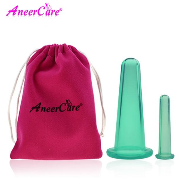 2 piezas frasco de vacío de catación latas para masaje ventosa celulitis ventosa chino tazas de la succión cara masaje latas anti celulitis