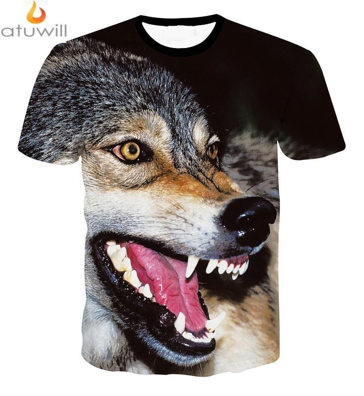 7a4ea9c6 Atuwill Animal Dog 3d Printed T Shirts Men Women Harajuku Tshirt ...