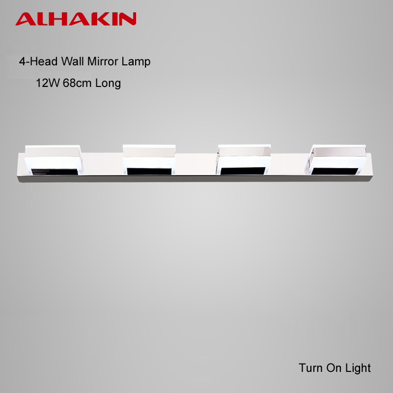 ALHAKIN LED Bathroom Mirror Lighting 1 2 3 4 Squares Wall Lamp Modern UP Down Light Waterproof And Anti Fog In Lamps From Lights