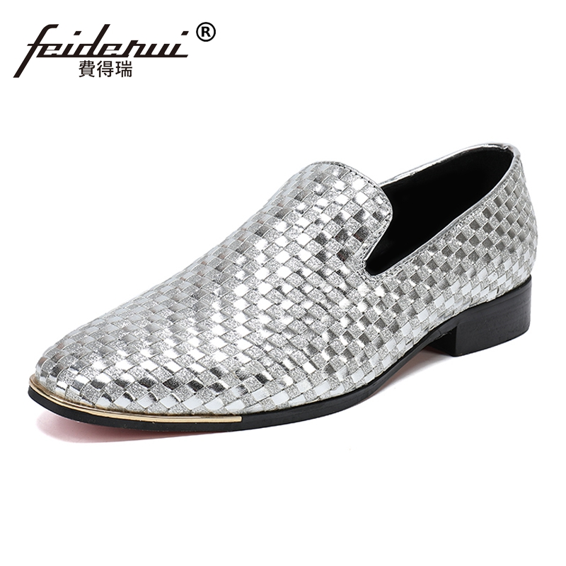 Plus Size High Quality Round Toe Slip on Man Moccasin Loafers Genuine Leather Handmade Comfortable Men's Casual Shoes SL129 nayiduyun women genuine leather wedge high heel pumps platform creepers round toe slip on casual shoes boots wedge sneakers