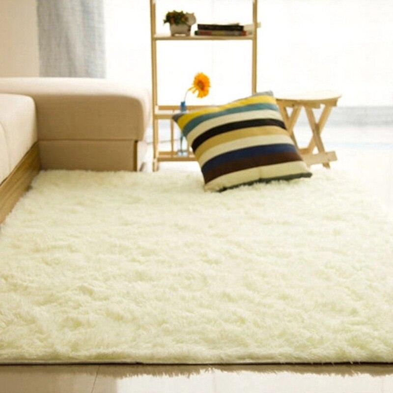 Fashion New Square Carpet Fluffy Blanket Shaggy Rug Anti Slip Home ...
