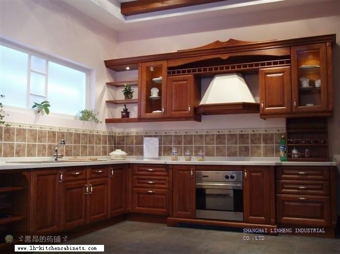 Juego de armario de cocina completo clásico (LH-SW028)