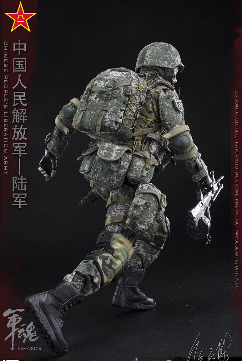 1/6 Scale Chiese People's Liberation Army Soul-Series Army Machine Gunner Military Solider Action Figure Full doll collection 18