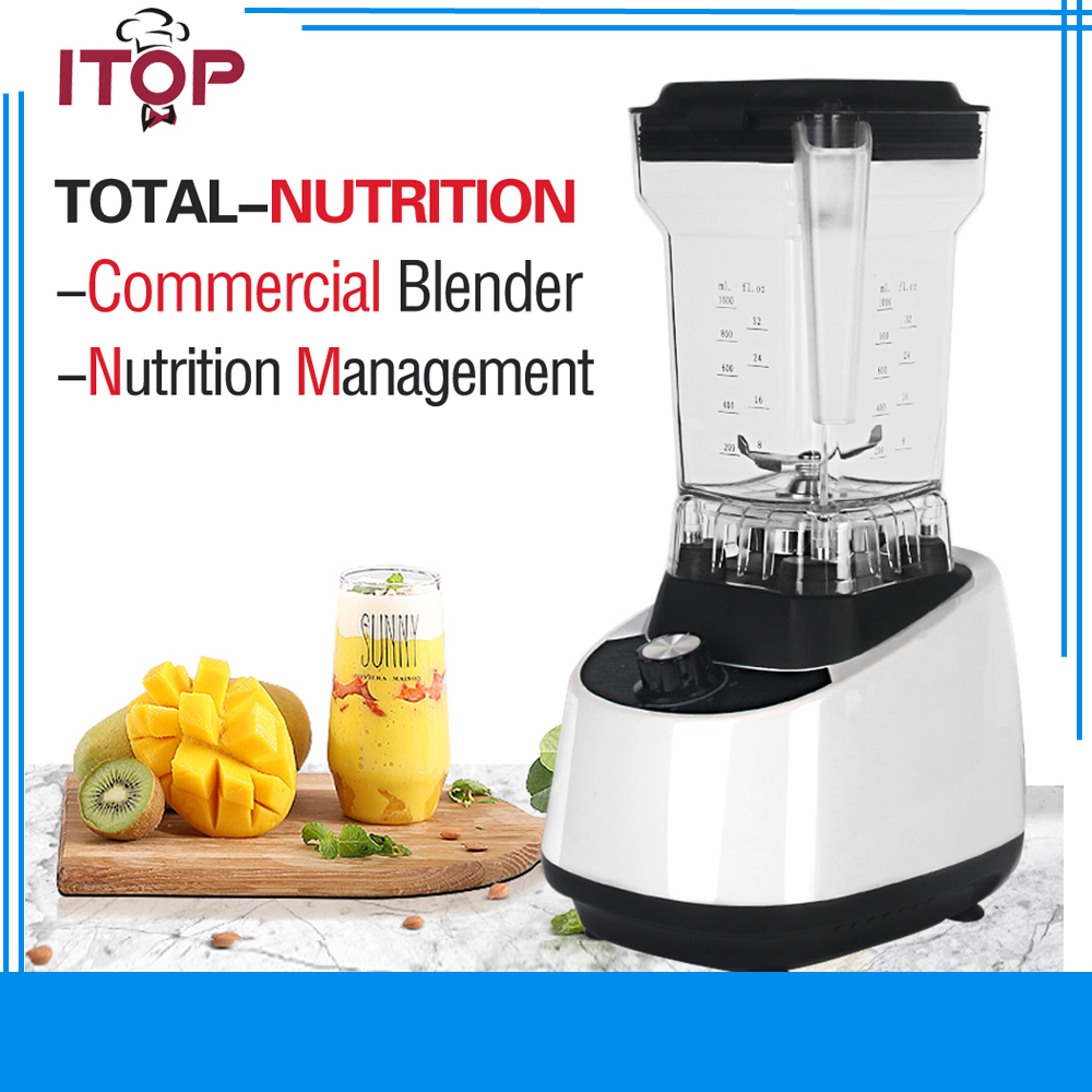 ITOP Household Fruit Juicer Electric Blender Vegetable Mixer US/UK/EU Plug 1500W Power glantop 2l smoothie blender fruit juice mixer juicer high performance pro commercial glthsg2029