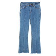 Spring Summer Basic Denim Jeans Women High Waist Vintage Flare Quality Cowboy Ankle-Length Pants