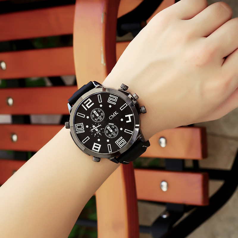 2018 Large Dial Watches Men Analog Quartz Fashion Military Sports Silicone Rubber Hours Men Wrist Watch Clock Relogio Masculino