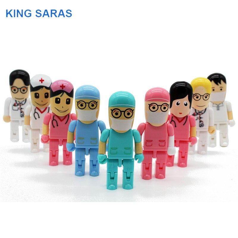 KING SARAS 64GB Doctors USB Stick Usb 2.0 USB Flash Drive Pen Drive 4GB 8GB 16GB 32GB Memory Stick