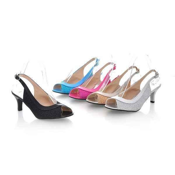 Lseilly, sandalias de mujer a la moda de Verano 2016 nuevas 30-46 de talla grande, zapatos informales de tacón medio para mujer, zapatos abiertos de estilo veraniego AA302