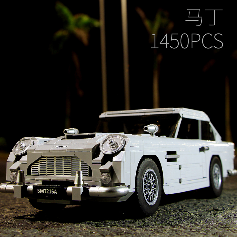 Lepin Technic Series 21046 1450PCS Aston Martin DB5 Car Toy Compatible 10262 Model Building Kits Blocks Bricks Toys For Children lepin 21004 ferrarie f40 sports car model legoing building blocks kits bricks toys compatible with 10248