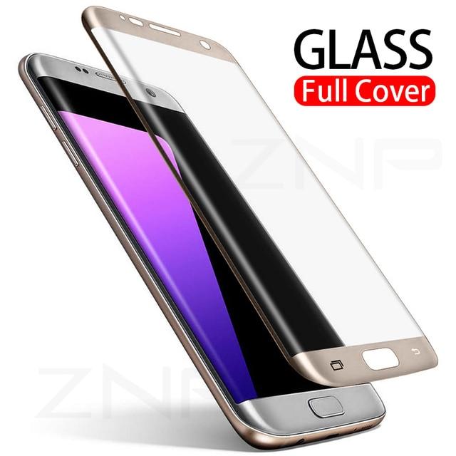 ZNP полное изогнутое 3D покрытие Защитная пленка для samsung Galaxy S6 S7 Edge закаленное стекло на samsung S7 S6 стеклянная пленка