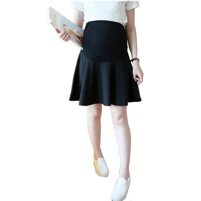 Új 2017 szexi szülési szoknya terhes nők számára koreai rövid divat női mini terhes szoknya női ruházat alsó B0170