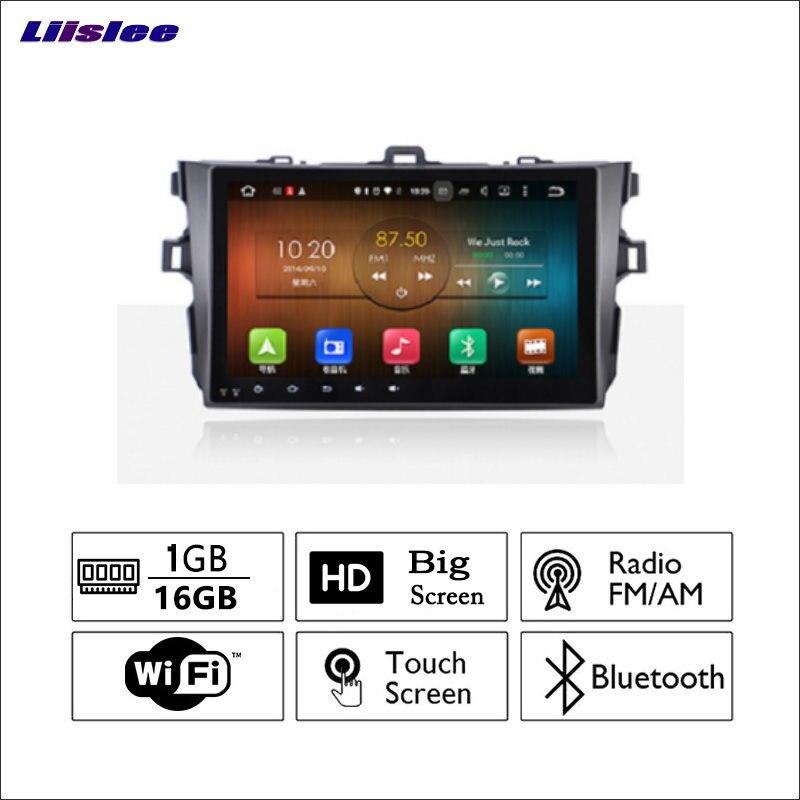 Liislee автомобиля Радио GPS аудио-видео мультимедийный плеер wiifi DVR навигации Android Системы без CD DVD для Toyota Corolla 2009 ~ 2013