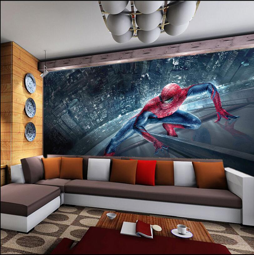 Spiderman Wallpaper For Bedroom: Spiderman Kids Bedroom Wallpaper Roll Large Size Photo