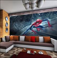 Spiderman Kids Bedroom Wallpaper Roll Large Size Photo Wall Murals 3D Mural Wallpapers for Living Room Home Decor Custom(China)