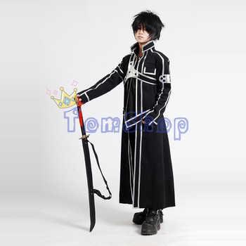 Sword Art Online SAO Kirito Kirigaya Kazuto Cosplay Long Overcoat Jacket Black Cloak Cape Men's Halloween Party Event Costumes - DISCOUNT ITEM  10% OFF All Category