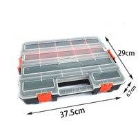 Tool Case Large Plastic Storage Screw Box Electronic Element Plastic Storage Double Lock Design Stackable Accessories Tool Box