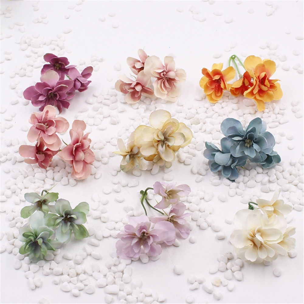 ⊰20pcs diy wreath material simulation hydrangea bouquet lovely ...