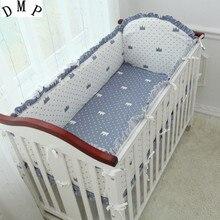 Promotion! 5PCS Cartoon Customize bed around set dismantling piece bedding set,(4bumper+sheet )