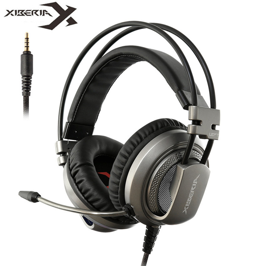 Xiberia V10 Gaming Headphones for a Mobile Phone PS4 New Xbox One PC Gamer 3.5mm Wired Bass Headset Head phone with Microphone