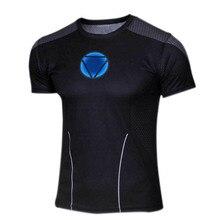 Marvel Superhero Captain America Deadpool Punisher T shirt homme Men Armour Short Sleeve Costume Under Gym Sport Fitness Summer