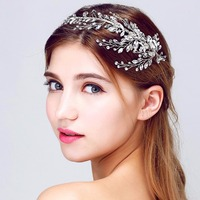 Hot Tiara Wedding Crystl Peal Headbands Vintage Hairband Bridal Hair Accessories Crystal Bouquet Collection Top Quality
