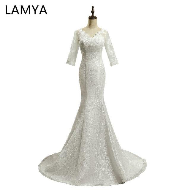 Lamya Cheap Plus Size Bridal Gowns Lace Mermaid Wedding Dresses ...