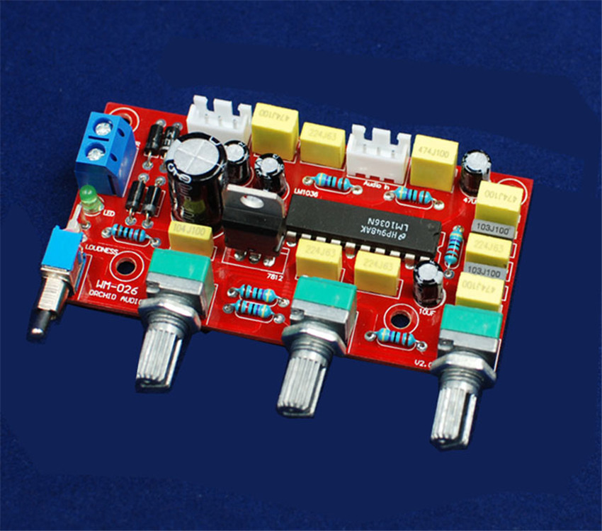 HIFI have a fever level LM1036 level before the board audio power amplifier front-end board parts palette suite finished product