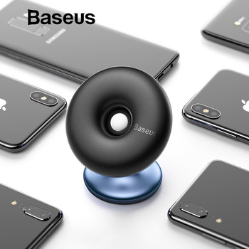 Support pour voiture Baseus pour téléphone portable support de support socle voiture d'aération à 360 degrés pour iPhone X 7 Samsung support de téléphone magnétique