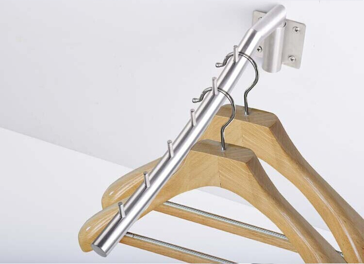 Free shipping adjustable 304 stainless steel clothes hanger ...