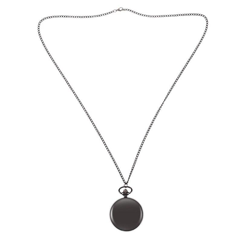 Vintage Matte Surface Black Large Pendant Men'S Quartz Pocket Pendant Pocket Watch
