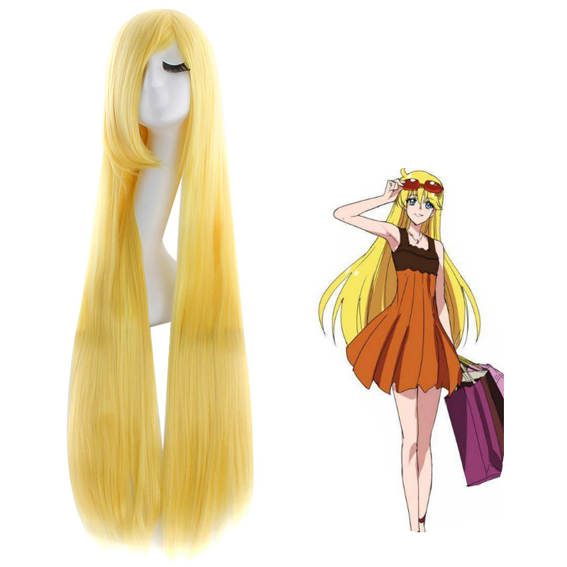 Pretty Soldier Minako Aino Anime Game Costume Cosplay 100cm Long Straight Blonde  Wig Halloween Costumes Women Hair Free Cap