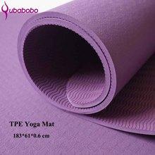 6MM TPE Yoga antideslizante Mats Fitness Slim Yoga Gym ejercicio Mats Pilates Ambiente Tasteless Pad Fitness Mat Deporte (183 * 61 * 0.6cm)