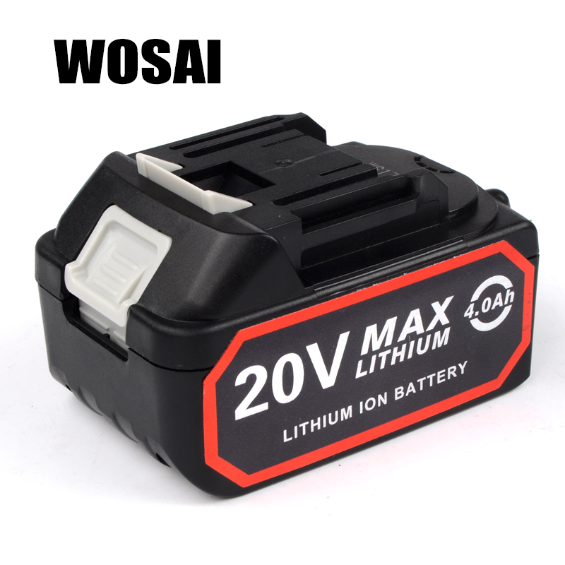 WOSAI 4.0AH 20V Power Tools Lithium Battery Pack Replacement Battery Dedicated Applicable Machine Model WS-H3 WS-J3