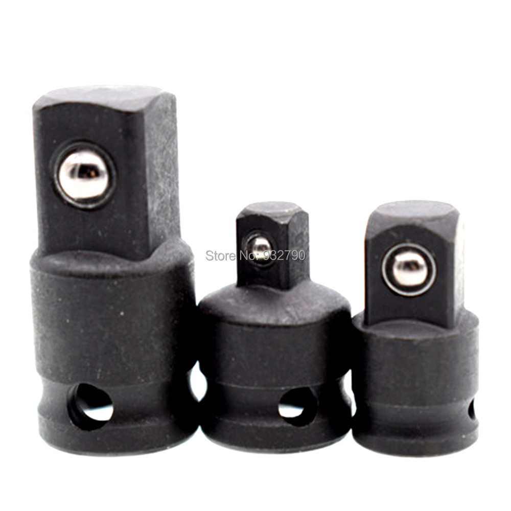 "3pcs Impact Adaptor Socket Reducer Converter Adapter Set Size 3/8"" to 1/2"" 3/8"" to 1/4"" 1/4"" to 3/8"" for Air Tools Hand Tools"