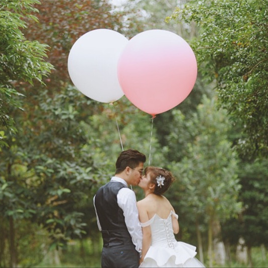 5pcs/lot Pink white 27  inch Quality  big Balloon Wedding party birthday balloon