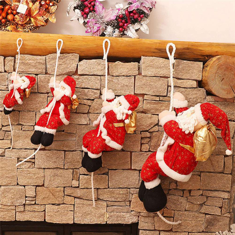 Christmas Ornament Rope Climbing Santa Claus Ceiling