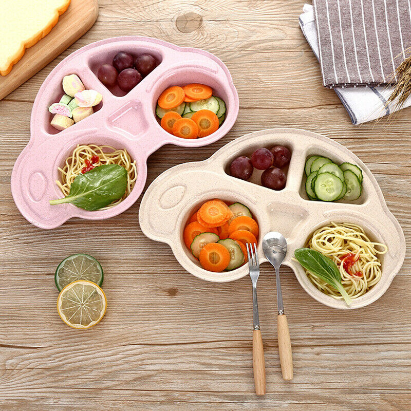 Toddler Baby Kid Dishes Tray Feeding Food Tableware Cartoon Car Food Plates Kids Children Eating Dinnerware Tableware Tray Plate форма для нарезки арбуза