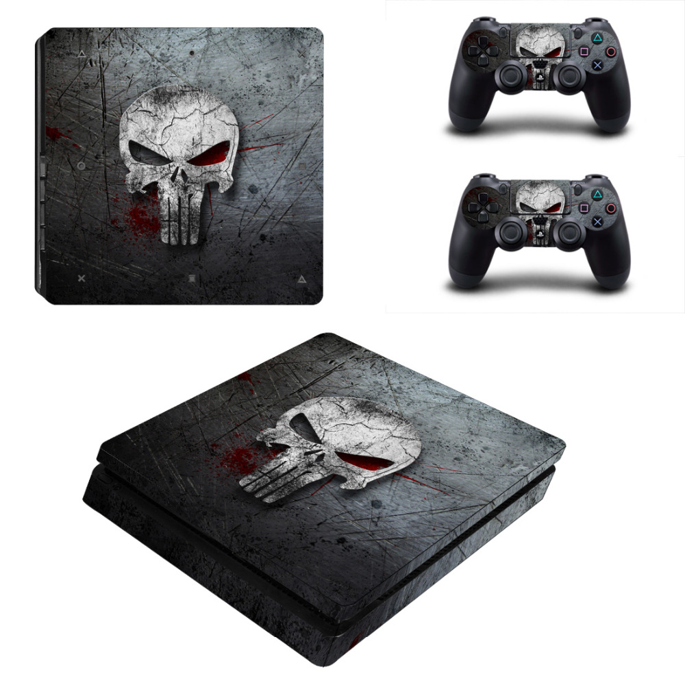 The Punisher PS4 Slim Skin Sticker Decal for PlayStation4 Slim Console and 2 Controller PS4 Slim Skins Sticker VinylThe Punisher PS4 Slim Skin Sticker Decal for PlayStation4 Slim Console and 2 Controller PS4 Slim Skins Sticker Vinyl