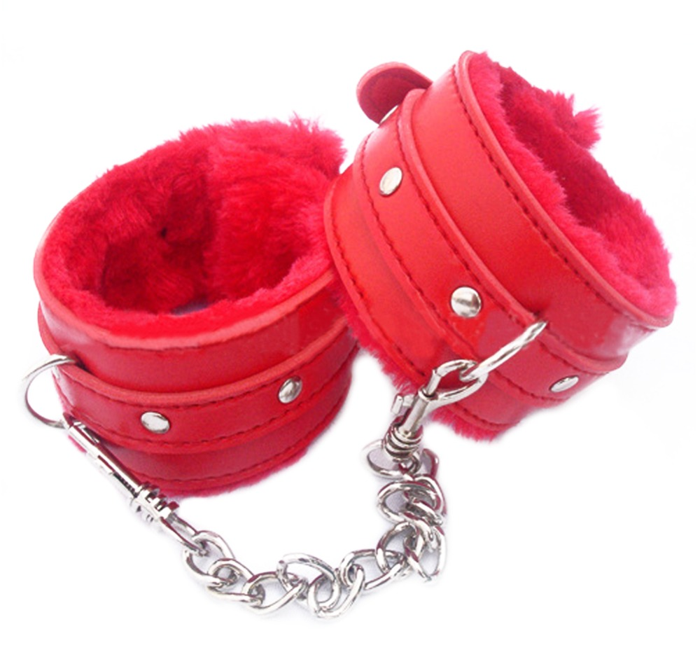1 Pair Of Hand Cuffs Pu Leather Handcuffs Sex Toys For -1325