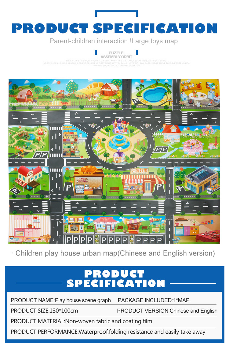 HTB1.l9zcm8YBeNkSnb4q6yevFXa6 39Pcs City Map Car Toys Model Crawling Mat Game Pad for Children Interactive Play House Toys (28Pc Road Sign+10Pc Car+1Pc Map)