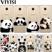 VIYISI For Meizu M6 5 Note Phone Case M5S 5C M3s 3 Pro6 U10 U20 Panda Animals Soft TPU Back Cover Coque Shell