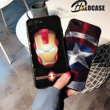 HALOCASE Luxury Marvel Tempered Glass Case For Iphone X XR XS MAX 8 7 6 6s Plus Phone Cases  Comics Batman Cover IphoneX
