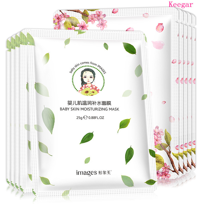 10Pcs Images Face Mask Baby Facial Mask Deep Moisturizing Shrink Pores Oil Control Brighten Skin Mask for Woman Korean Cosmetics in Treatments Masks from Beauty Health