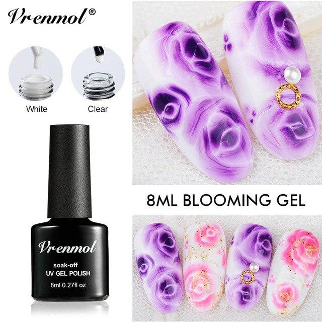 Vrenmol 1 Pièces Fleur Fleurs Peinture Dessiner Gel Laque Blanc