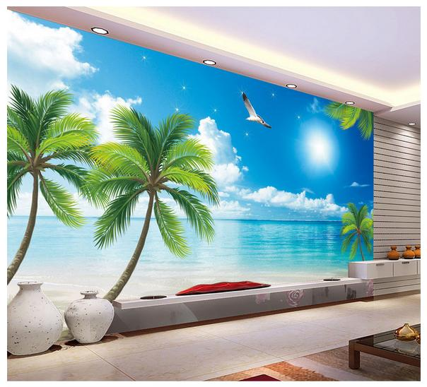 Custom photo wallpapers 3d wall murals wallpaper The Mediterranean landscape setting wall papers decoration trees wallpaper